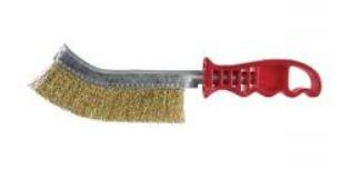 Escova de aço manual com cabo plástico - Inebras