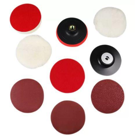 Discos para Lixar e Polir + Suporte Com Pluma Fixa Fácil 5 Pol. (Politriz)- VONDER