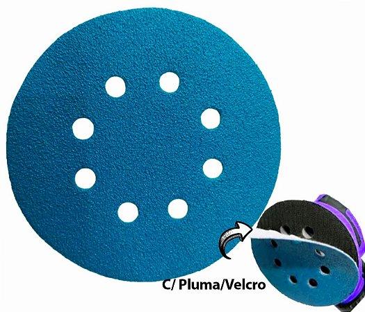 """Disco de Lixa Com Velcro 178mm 7"""" com Furo Grão 80"""
