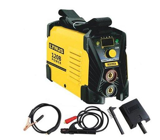 Máquina de Solda Inversora e MMA LIS-120 Power 120A com Display Digital - LYNUS