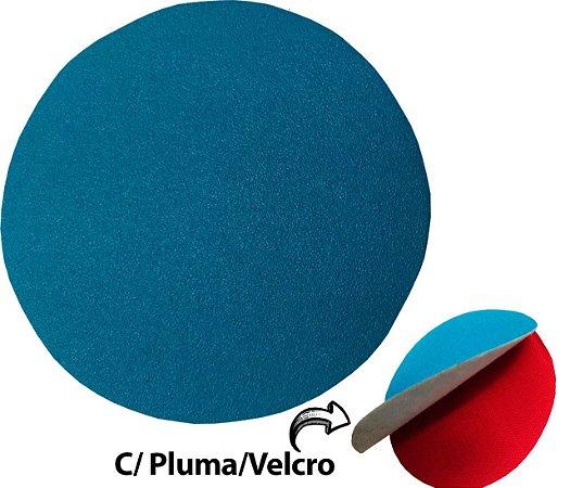 """Disco de Lixa Com Velcro 125mm 5"""" SEM Furo Grão 180"""