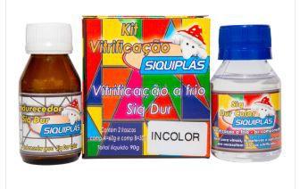 Resina Incolor Vitrificação Bicomponente 90gr - SIQUIPLÁS