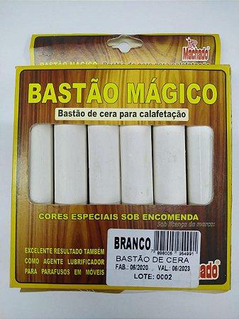 BASTÃO DE CERA PARA CORREÇÃO DE MADEIRA BRANCO CAIXA C/ 6 - MACHADO