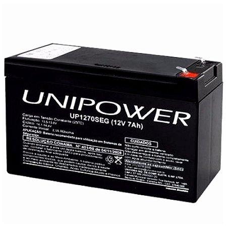Bateria Estacionária Nobreak VRLA 12V 7Ah UNIPOWER UP1270E