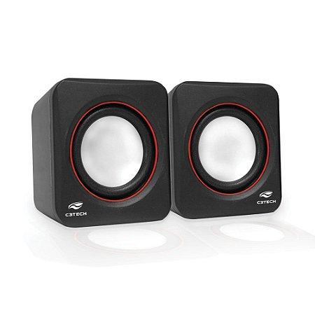 Caixa de Som Speaker 2.0 3W RMS SP-301 C3Tech