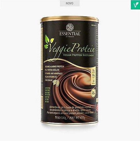 Veggie Protein Cacao 455g Proteína Orgânica da Amêndoa e Proteína Isolada da Ervilha