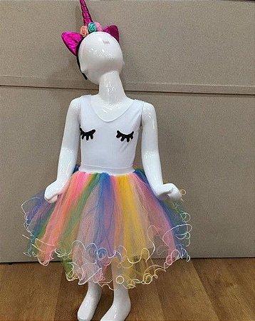 Fantasia Infantil Unicornio tam: P/M/G