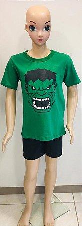 Camiseta Hulk Infantil  tam:10