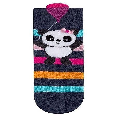 Meia Bebê Infantil Fun Socks Carinho Pandinha Listras