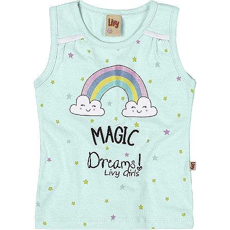 Regata Infantil Menina Arco Íris Bailarina Magic Verde