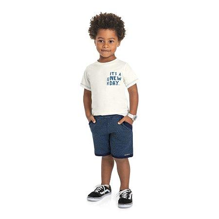 Conjunto Infantil Menino Camiseta Bermuda New Day