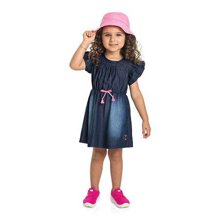 Vestido Infantil Jeans Azul Escuro