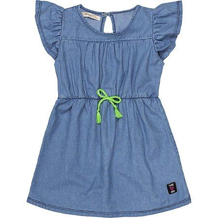 Vestido Infantil Jeans Azul Claro