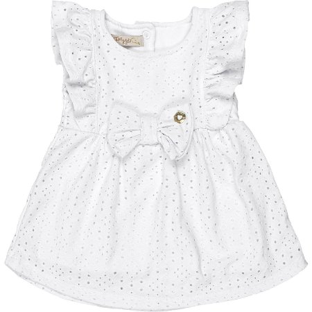 Vestido Bebê Laise Babadinhos Little Birds Branco