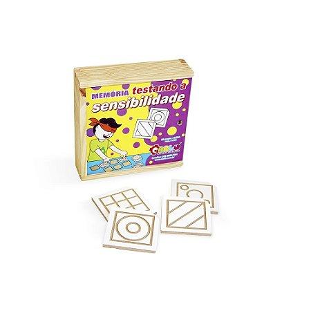 Jogo de memória testando sensibilidade Braille