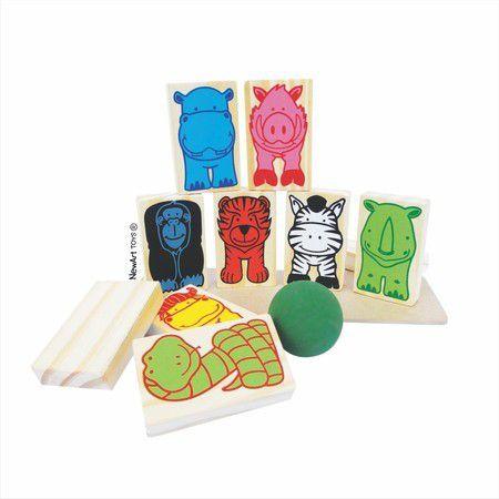 Brinquedo Educativo Equilíbrio Animais em madeira