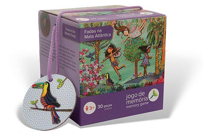 Brinquedo Educativo Fadas da Mata Atlântica Jogo da Memória 30 peças