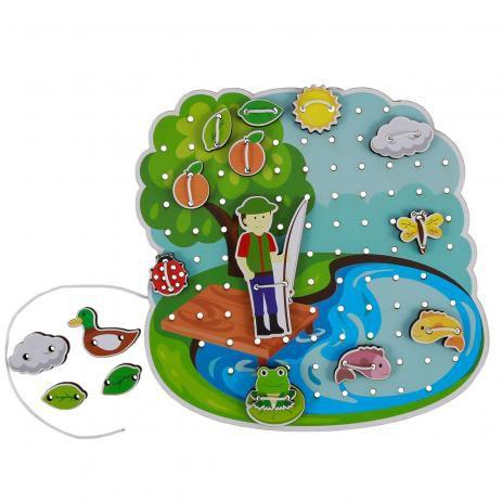 Brinquedo Educativo Alinhavo Lago Newart