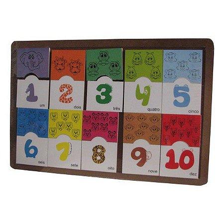 Brinquedos Educativos Zoo Animais Numeral e Quantidade