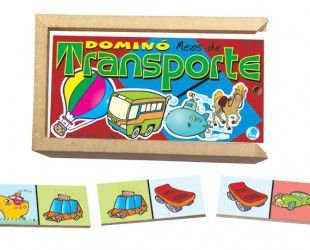 Brinquedo Educativo Dominó Transporte