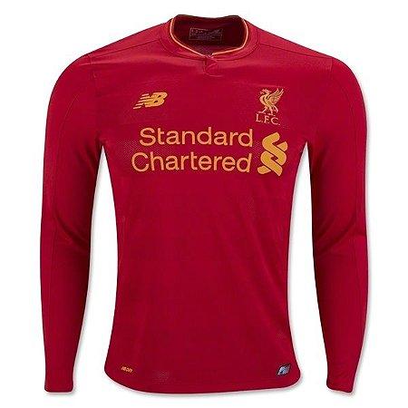 Camisa oficial New Balance Liverpool 2016 2017 I jogador Manga comprida