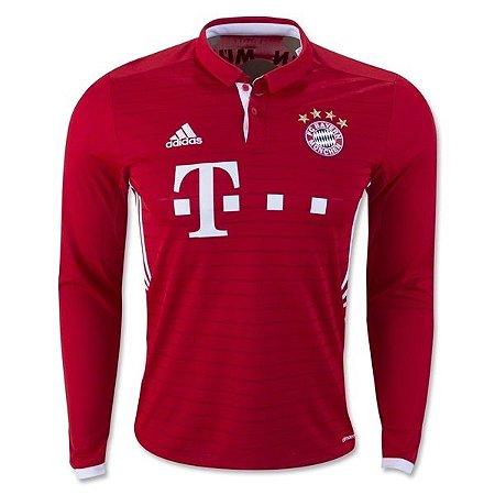Camisa oficial Adidas Bayern de Munique 2016 2017 I jogador manga comprida