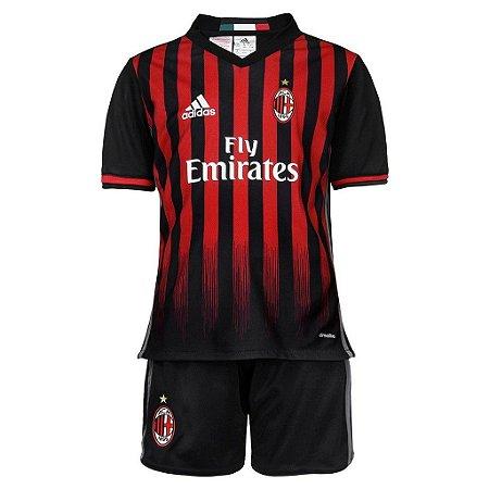 Kit oficial infantil Adidas Milan 2016 2017 I jogador