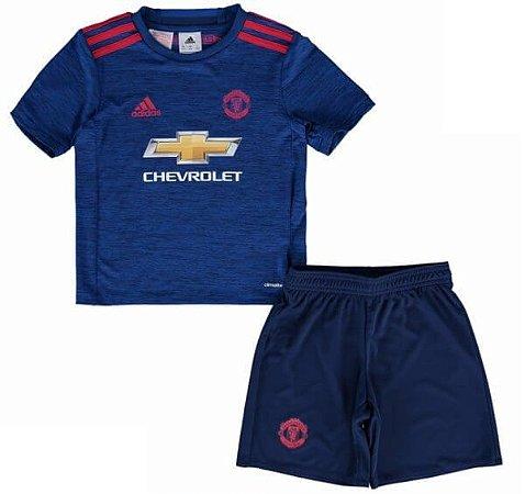 Loja Loucos por futebol - Kit infantil oficial adidas Manchester ... c4bf381a3b851