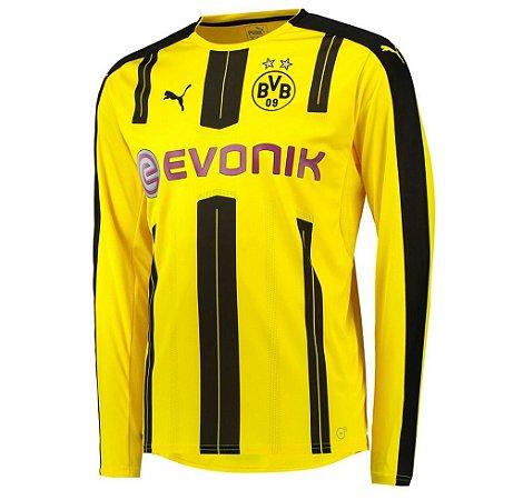 Camisa oficial Puma Borussia Dortmund 2016 2017 I jogador manga comprida