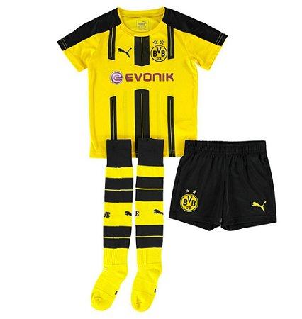 Kit oficial infantil Puma Borussia Dortmund 2016 2017 I jogador