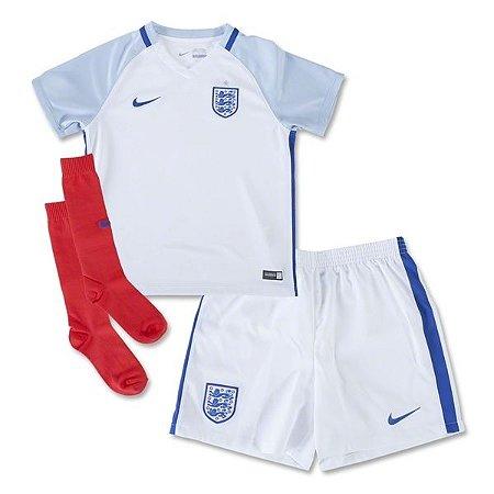 Kit oficial infantil Nike seleção da Inglaterra Euro 2016 I jogador