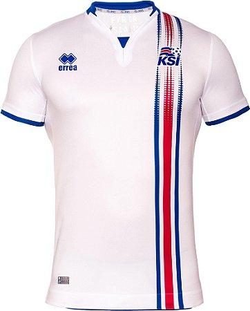 Camisa oficial Errea seleção da Islandia Euro 2016 II jogador