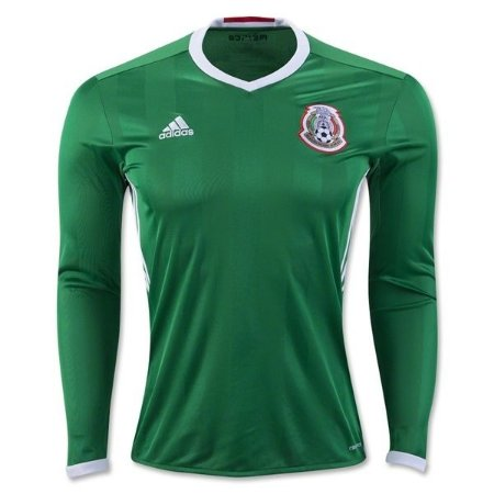Camisa oficial Adidas manga comprida seleção do México 2016 I jogador Copa America centenário