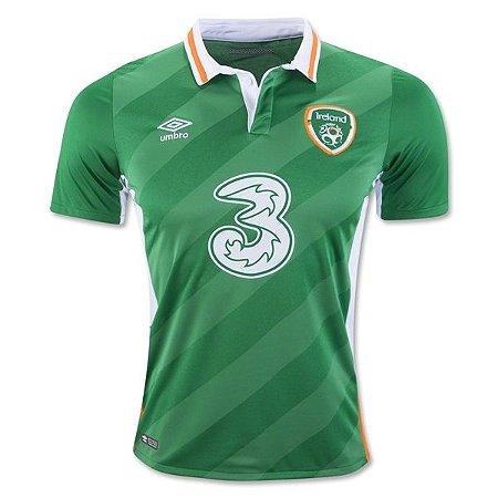 Camisa oficial Umbro seleção da Irlanda Euro 2016 I jogador