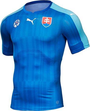Camisa oficial Puma seleção da Eslovaquia Euro 2016 II jogador