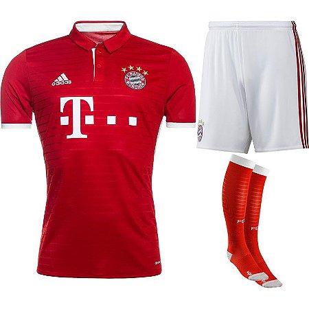 kit oficial adulto adidas Bayern de Munique 2016 2017 I jogador