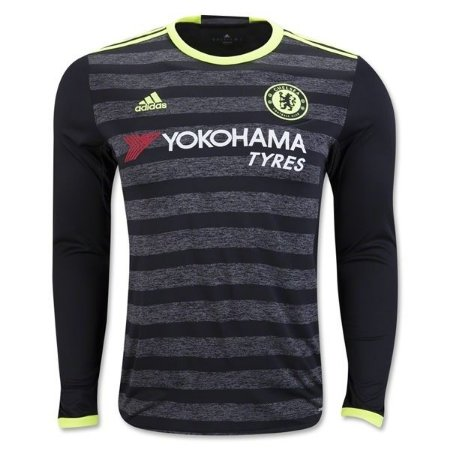 Camisa oficial Adidas Chelsea 2016 2017 II jogador manga comprida