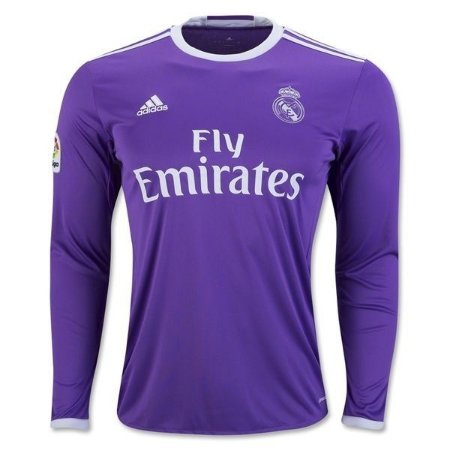 Camisa oficial Adidas Real Madrid 2016 2017 II jogador manga comprida