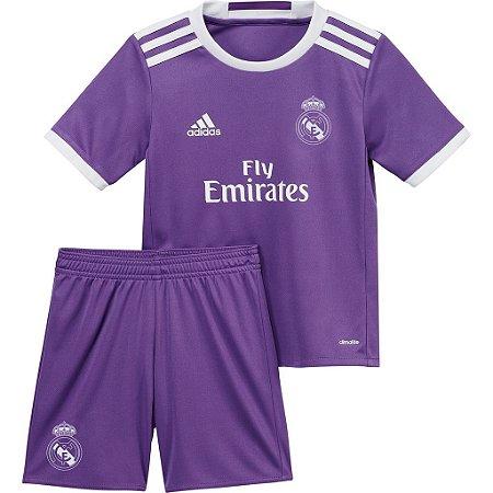 Kit infantil oficial Adidas Real Madrid 2016 2017 II jogador