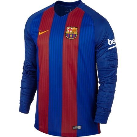 Camisa oficial Nike Barcelona 2016 2017 I jogador manga comprida
