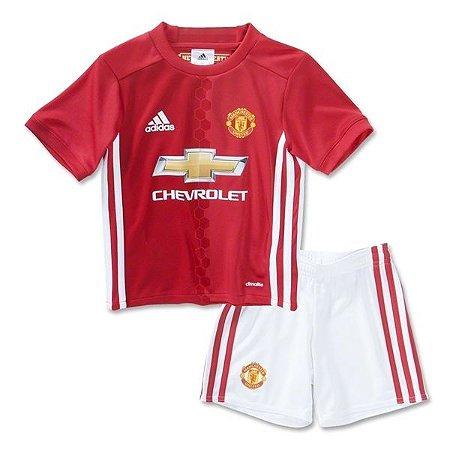 Kit infantil oficial adidas Manchester United 2016 2017 I jogador
