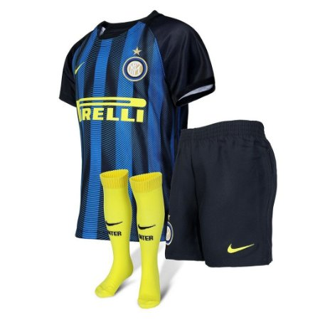 Kit oficial infantil Nike Inter de Milão 2016 2017 I jogador