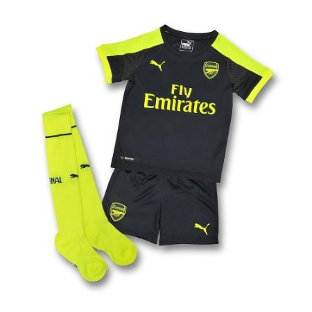 Kit oficial infantil Puma Arsenal  2016 2017 III jogador