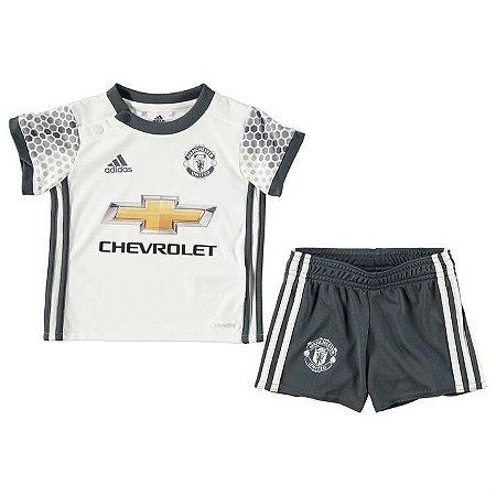 Kit infantil oficial adidas Manchester United 2016 2017 III jogador