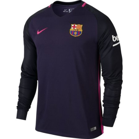 Camisa oficial Nike Barcelona 2016 2017 II jogador manga comprida