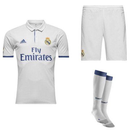 Kit adulto oficial adidas Real Madrid 2016 2017 I jogador