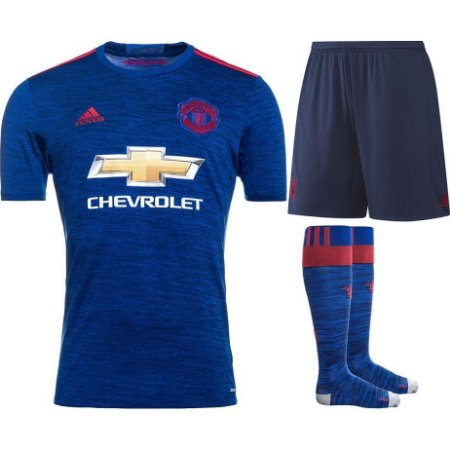 Kit adulto oficial adidas Manchester United 2016 2017 II jogador