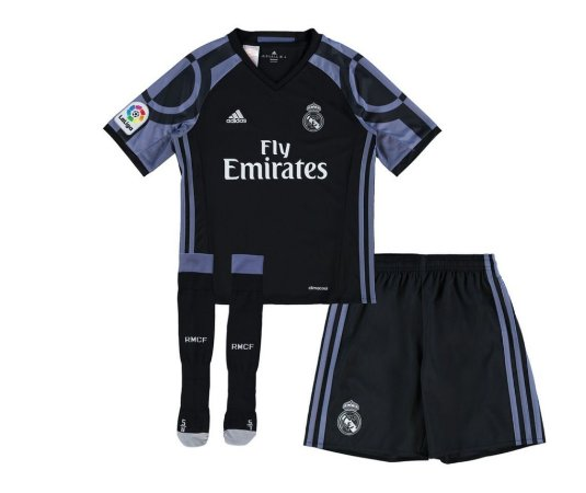 Kit infantil oficial Adidas Real Madrid 2016 2017 III jogador