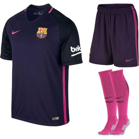 Kit adulto oficial Nike Barcelona 2016 2017 II jogador
