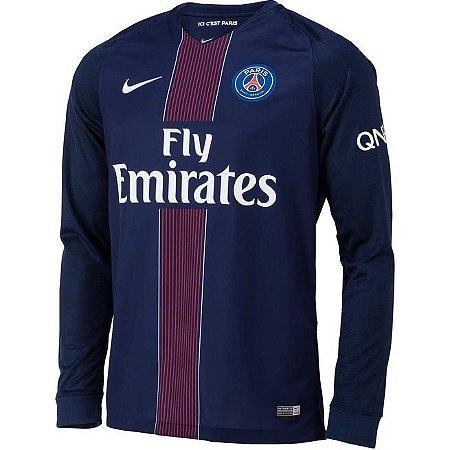 Camisa oficial Nike PSG 2016 2017 I jogador manga comprida